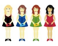 Four glamour girls Royalty Free Stock Photo