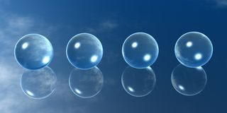Four Glass Balls Stock Images