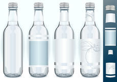 Four Glass Bottles with Generic Labels Stock Photography