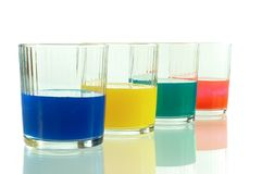 Four glasses Royalty Free Stock Photography