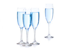 Four glasses with champagne Royalty Free Stock Photos