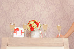 Four Glasses with Champagne Royalty Free Stock Photo