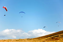 Four gliders Stock Photography