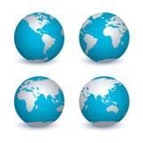 Four globes Stock Photo