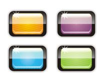 Four glossy buttons Stock Photo