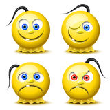 Four glossy smileys Royalty Free Stock Photo