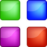 Four glossy web icons Royalty Free Stock Photography