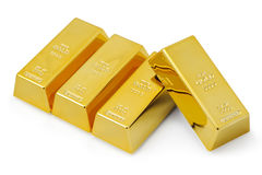Four gold bars Royalty Free Stock Image