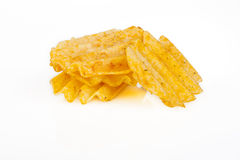 Four Golden Chips Royalty Free Stock Images