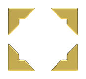 Four Golden Corners Royalty Free Stock Image