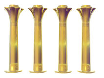 Four Golden Egyptian Columns Stock Photos