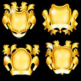 Four golden shields Royalty Free Stock Photography