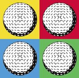 Four golf balls. On coloured background Royalty Free Stock Photography
