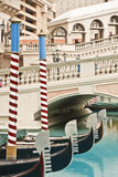 Four Gondolas in Canal Royalty Free Stock Image