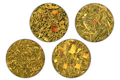 Four grades of green tea Royalty Free Stock Photography