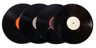 Four gramophone vinyl records Stock Images