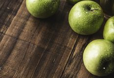 Four Granny Smith Apples stock photography