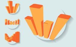 Four graph icon set. EPS10 vector illustration Royalty Free Stock Photo