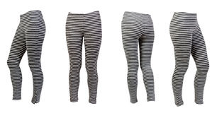 Four gray striped leggings Stock Image