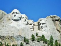 Four Great Men-Mount Rushmore Stock Images