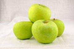 Four green Apple Royalty Free Stock Photos