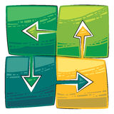 Four green arrows Stock Photo