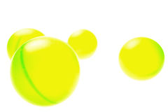 Four Green Balls. Against a white background Royalty Free Stock Images