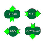 Four green buttons Stock Image