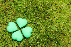 Four green heart objects Royalty Free Stock Photography