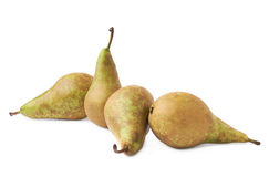 Four green pears composition isolated Stock Photos