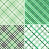 Four Green Plaids. Four different green plaid patterns to be used as a background Royalty Free Stock Photography