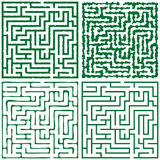 Four green square maze (16x16) Royalty Free Stock Photo