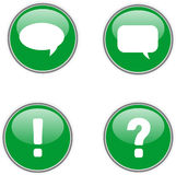 Four green web icons Stock Image