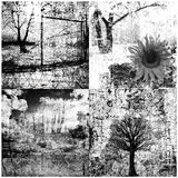 Four grunge collage Stock Images