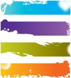 Four grunge colorful borders