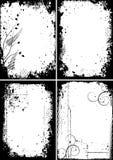 Four grunge frames Stock Photos