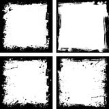 Four grunge frames Royalty Free Stock Image