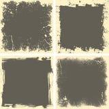 Four grunge frames Royalty Free Stock Photos