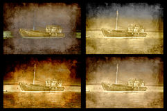 Four grungy ships Royalty Free Stock Image