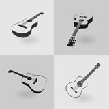 Four guitars vector Stock Photography