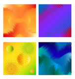 Four halftone square cards Royalty Free Stock Photo