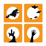 Four halloween backgrounds Stock Image