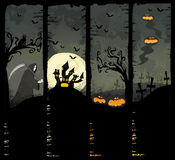 Four Halloween banners Stock Photo