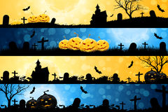 Four Halloween Banners Royalty Free Stock Photos