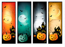 Four Halloween banners. Vector Royalty Free Stock Photo