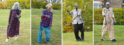 Four Halloween Living Dead Zombies Royalty Free Stock Photography