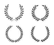 Hand Drawn Laurel Wreaths. Four hand drawn laurel wreaths stock illustration