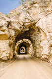 Four hand-dug tunnels Royalty Free Stock Photos