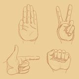 Four hand sketches Royalty Free Stock Image