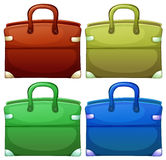 Four handheld bags Stock Images
